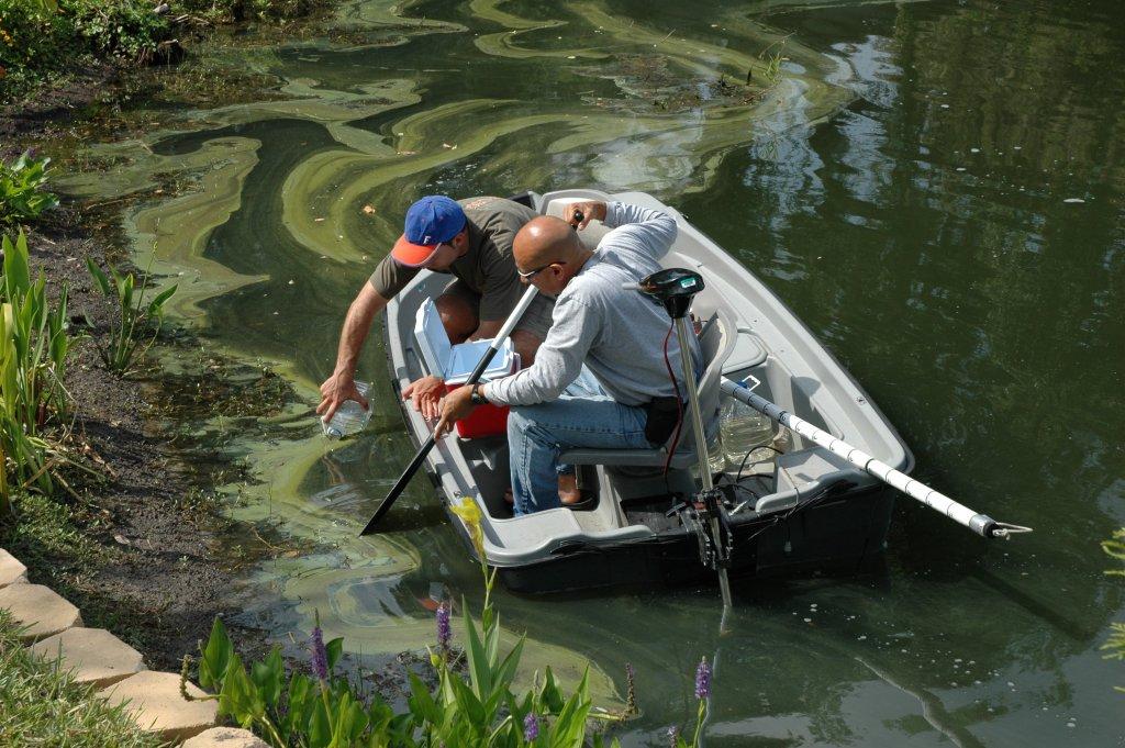 Sampling water for toxic algal blooms