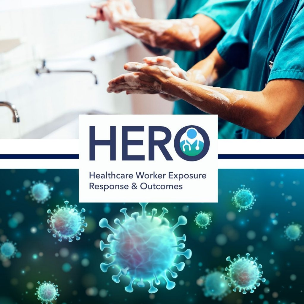 HERO logo with hand washing